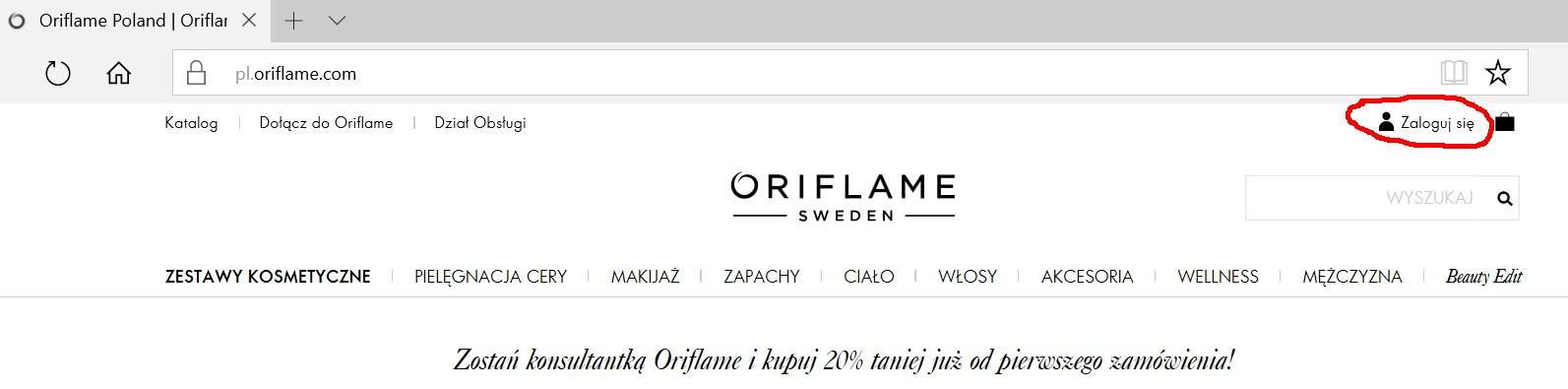 Oriflame logowanie - strona główna